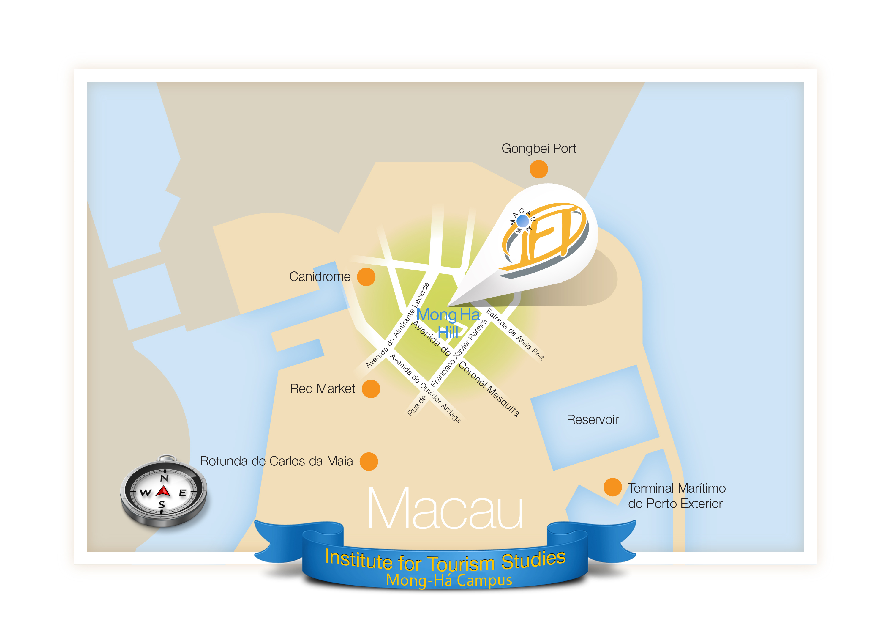 1e) Map to indicate where Macau IFT locates