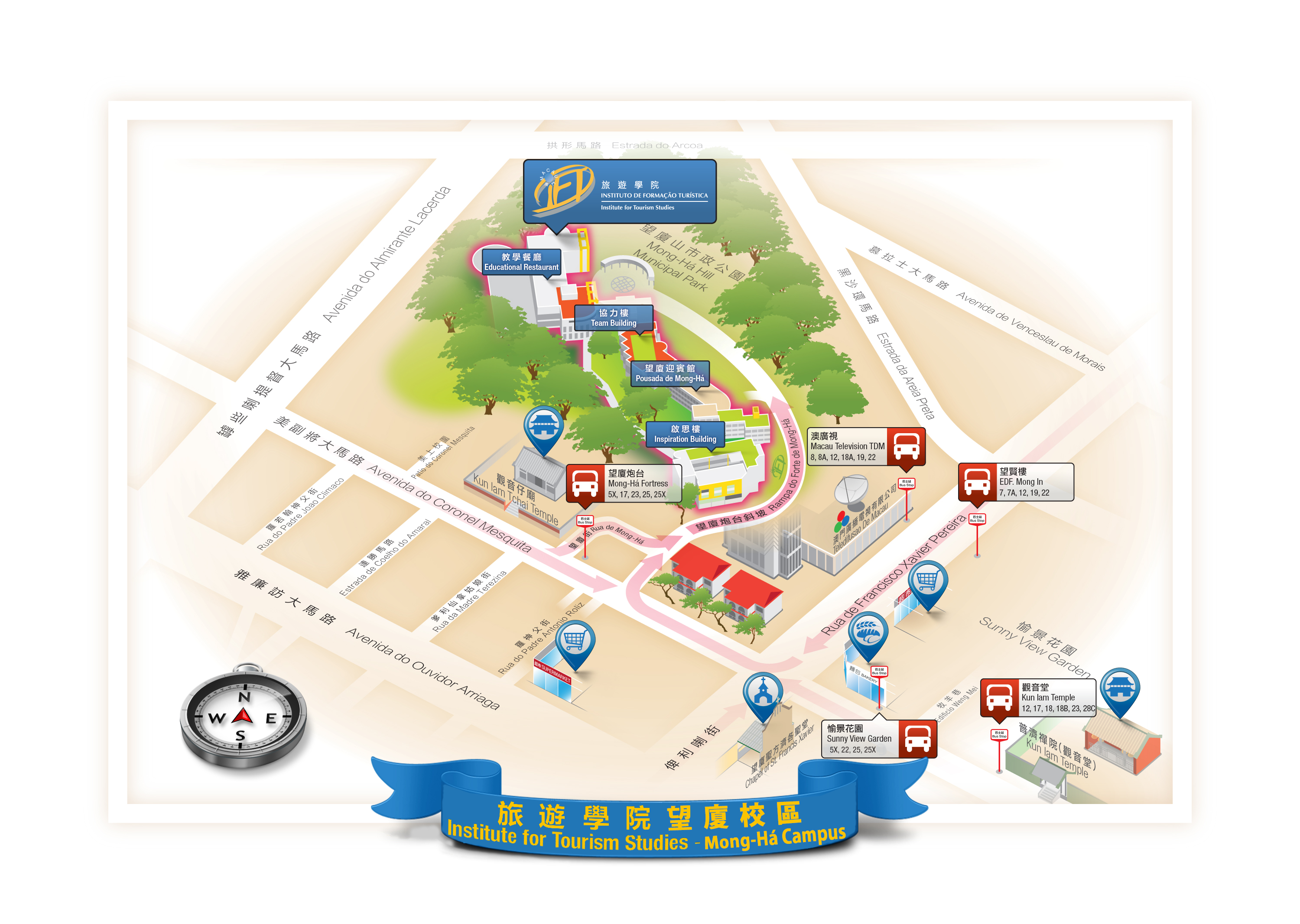 map to show how to reach mong ha campus